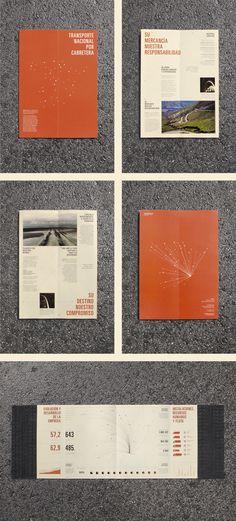 Transraysa corporative booklet by Jose Álvarez Carratalá, via Behance