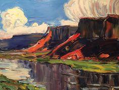 Robert Reynolds, Clouds of Summer, oil, 24 x 30.