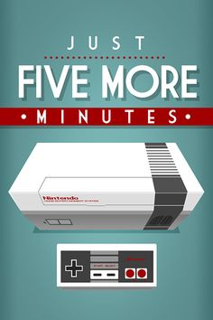 Video Games Poster Print Quote  Nintendo Just five by Posterphile, $14.99