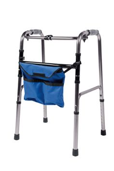 3350047 Pouch Vitility. This walker pouch can be attached easily to almost any type of walker. Constructed from durable nylon, it provides the user with a convenient method for carrying daily necessities.