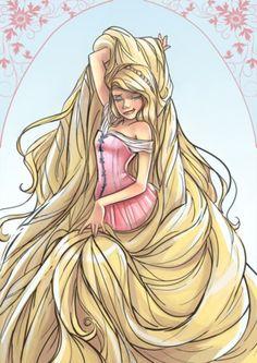 Rapunzel, Rapunzel, let down your long hair.