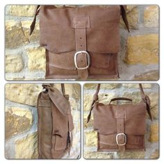 Moo Light Brown Buckle Satchel £130 #leather bag #hand made #boutique #moo designs