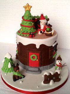 Santa is coming... - by Milena @ CakesDecor.com - cake decorating website
