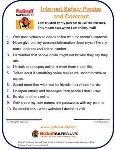 cyber safety pledge - Google Search