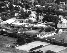 Ohlssons brewery where it is still today.Note a very primitive looking Newlands cricket ground front left. Places Of Interest, Zimbabwe, Homeland, Cape Town, Brewery, Old Photos, Cricket, South Africa, Past