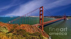 San Francisco Golden Gate Bridge Painting by Bob Johnston - San Francisco Golden Gate Bridge Fine Art Prints and Posters for Sale
