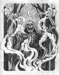 "ACEO Art Print Charcoal Drawing /""Wizard/"" Fantasy Medieval"