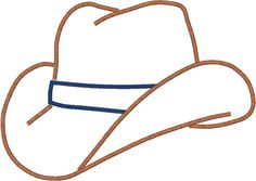 cowboy hat applique design by Pis4Poppy on Etsy, $3.00