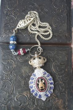 Antique Crown Assemblage necklace Crown jewelry Crown ring Unusual Jewelry, Handmade Jewelry, Antique Jewelry, Vintage Jewelry, Royal Jewelry, Silver Jewelry, Boho Necklace, Simple Necklace, Medieval Jewelry