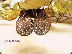 Dangle Filigree Earrings  Bronze Earrings  by JewelsOfHighElegance, $15.00