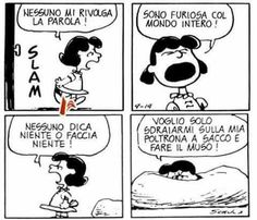 Personne ne me parle! Peanuts Quotes, Snoopy Quotes, Lucy Van Pelt, Snoopy Comics, Quotation Marks, Peanuts Snoopy, Calvin And Hobbes, More Than Words, English Quotes
