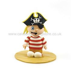 Claydough Pirate Boy Cake Topper