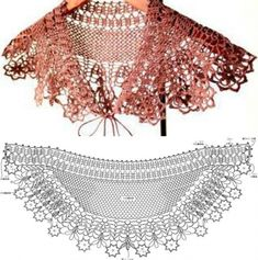 Crochet Collar Pattern, Lace Collar, Crochet Top, Collars, Women, Fashion, Shawl, Moda, Necklaces