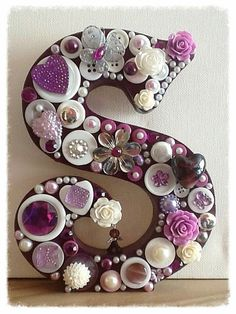 359 Best Denim and Diamonds images Wood Letters Decorated, Wooden Letters, Button Art, Button Crafts, Crafts With Buttons, Free Standing Letters, Diy And Crafts, Arts And Crafts, Denim And Diamonds