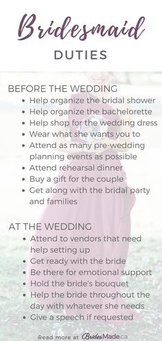 Bridesmaid Duties Everything You Need To Know If Are A Or Maid Of