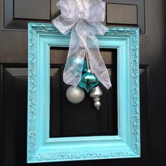 Christmas wreath for my front door. Another successful pinterest project!