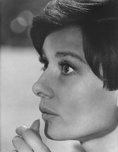Audrey Hepburn Forever. love her profile. Strong jaw and aristocratic nose which defines