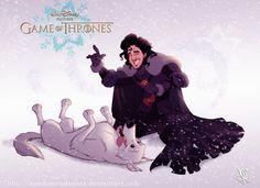 Disney GOT Jon Snow by nandomendonssa on deviantART