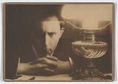 """[Self-portrait, """"Collapse, with Lamp"""", Zakopane]  Stanislaw Ignacy Witkiewicz  (Polish, Warsaw 1885–1939 Jeziory)  Date: ca. 1913"""