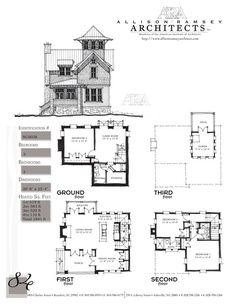 This plan is 1841 Heated Square Feet, 3 Bedrooms and 3 Bathrooms. Carolina Inspirations, Book II, Page Architecture Concept Drawings, Facade Architecture, Bamboo Architecture, Small House Plans, House Floor Plans, The Plan, How To Plan, Br House, Cottage House