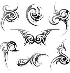 Tribal art set vector 2267487 - by AKV on VectorStock®