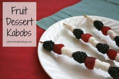dessert fruit kabobs - perfect for the 4th of July