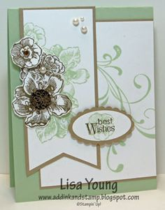 pretty card and nice color combo