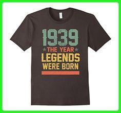 Mens 78th Birthday T-Shirt 1939 The Year Legends Were Born 3XL Asphalt - Birthday shirts (*Amazon Partner-Link)