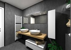 Il Bagno Group firma questo progetto con la nostra collezione effetto cemento #Kerlite Over, nel colore nero della serie. Look metropolitano ed estetica raffinata Grey Bathroom Tiles, Bathroom Spa, Grey Bathrooms, Modern Bathroom Design, Bathroom Interior, Guest Toilet, Natural Interior, Bath Decor, Luxury Living