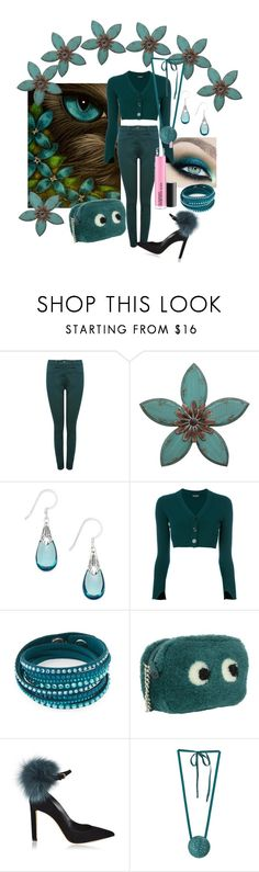 """""""Nice Kitty"""" by lensesrmything ❤ liked on Polyvore featuring M&Co, Jody Coyote, Twin-Set, Swarovski, Anya Hindmarch, Jimmy Choo and Dries Van Noten"""