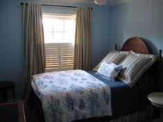 medium blue and brown bedroom