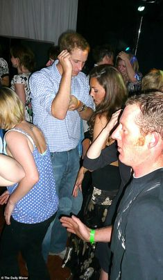 Prince William and Kate Middleton dancing on his 26th birthday night in club Boujis tent a...