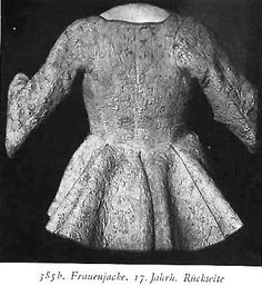 17th century women's clothing jacket - Google-haku