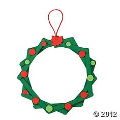 Christmas Craft - have students paint popsicle sticks, I can glue them together then they can decorate