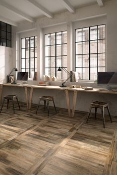 """Ceramica Sant'Agostino """"Pictart"""" wood-patterned tiles in all sorts of looks"""