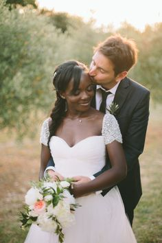 Sweet moment: http://www.stylemepretty.com/little-black-book-blog/2015/01/30/gastronomic-provencal-wedding-at-auberge-la-feniere/ | Photography: M&J - http://www.mandjphotos.com/