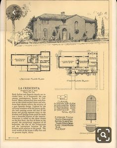Seventy-two designs for fireproof homes Mediterranean Architecture, Spanish Architecture, Architecture Plan, Residential Architecture, Architectural House Plans, Architectural Prints, Spanish Design, Spanish Style, Spanish Revival
