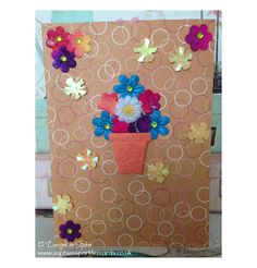 """Flowerpot"" Blank Card www.sophiessparklezcards.co.uk"