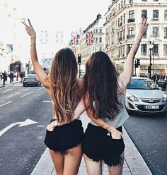 girl, friends, and hair imageの画像