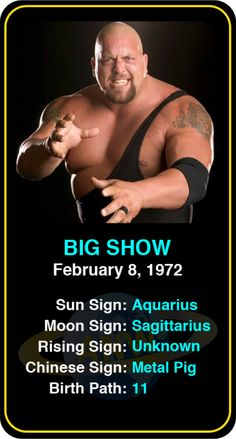 #Famous #WWE #Wrestlers: Big Show - Check out more famous WWE wrestlers here! https://www.astroconnects.com/galleries/celeb-featured-galleries/famous-wwe-wrestlers #astrology #wrestling #bigshow