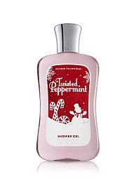 Bath & Body Works Holiday Traditions Twisted Peppermint Shower Gel 10 Fl. Oz. and body lotion 8 oz. Both brand new.