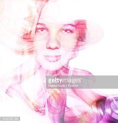 Foto stock : Digital Composite Of Woman