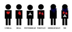 "{ haha Sherlockians don't need hearts, we have scarves to keep us warm. } Yup, I'm ""Me""."
