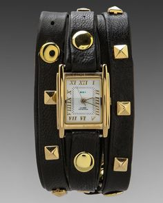La Mer Pyramid Watch in Black/Gold