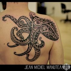 tatouage polynesien-polynesian tattoo: octopus tattoo
