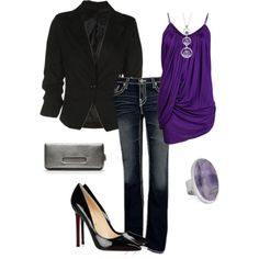 purple, created by kmosser on Polyvore