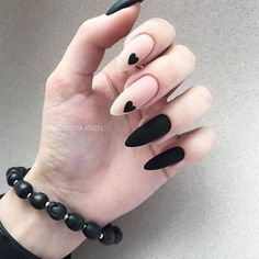 Expand fashion to your nails with the help of nail art designs. Donned by fashion-forward personalities, these kinds of nail designs can add instantaneous allure to your apparel. Matte Nail Art, Best Acrylic Nails, Oval Nail Art, Black Nail Designs, Cool Nail Designs, Matte Nail Designs, Nails Design, Fun Nails, Pretty Nails