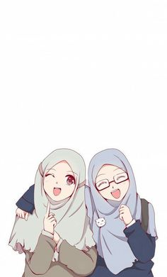Beautiful,Pretty cute,friendship anime muslimah en 2019 anime muslim, hijab d Anime Girl Cute, Beautiful Anime Girl, Anime Art Girl, Girl Cartoon, Cartoon Art, Cover Wattpad, Anime Friendship, Hijab Drawing, Friend Anime