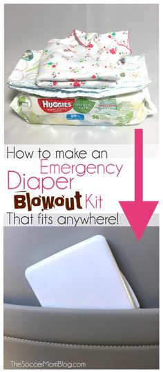 Diaper emergency? No problem! This handy Diaper Blowout Kit contains everything you need to clean up and fits just about anywhere! ad #HuggiesNewYear