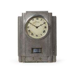 J.L. Reutter; #FJ1 Nickeled Steel Atmos 'Juke Box' Clock for Jaeger Lecoultre, c1932.